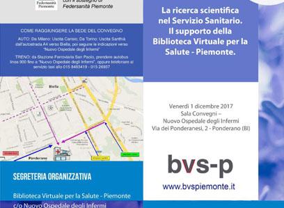LA RICERCA SCIENTIFICA NEL SERVIZIO SANITARIO. IL SUPPORTO DELLA BIBLIOTECA VIRTUALE PER LA SALUTE-PIEMONTE